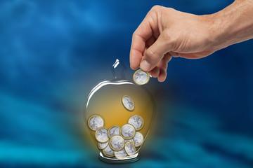 Hucha Euros Fondo  Azul
