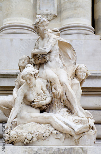 Paris - statue from facade of Grand Palais