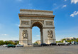 The Arc de Triomphe from the Place Charles de Gaulle