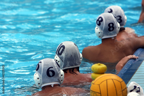 water polo players resting