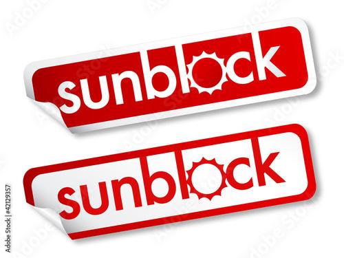 Sunblock stickers
