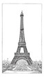Eiffel Tower, brought up by the engineer Gustave Eiffel, vintage