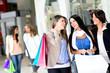 Girls out shopping