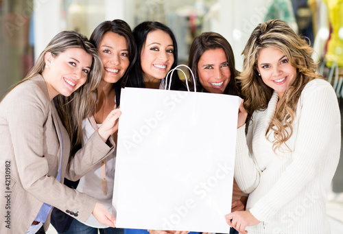 Group of women shopping