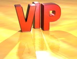 Word VIP on yellow background