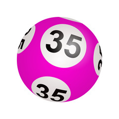 Tirage loto, boule numéro 35