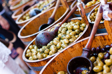 Olives at the market