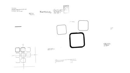 App Development Scribblings on Whiteboard