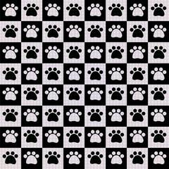 animal tracks seamless pattern