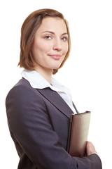 Bewerbungsmappe einer Geschäftsfrau