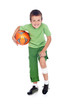 Injured boy with soccer ball