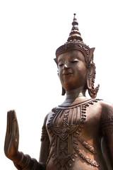 Buddha statue on white-background