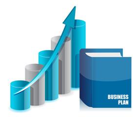 book business and graph chart illustration design