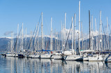 Sailing boats and yachts in the marina. Mediterranean sea.
