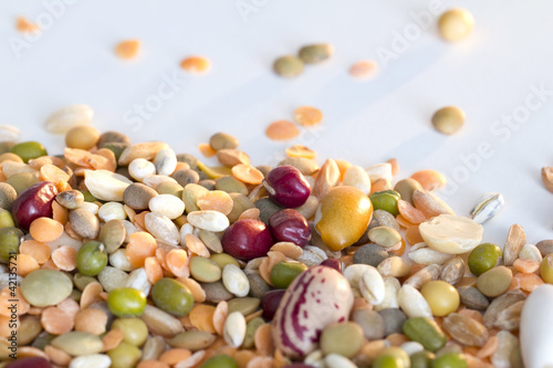Mixed vegetables on a white background