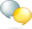 Gold and silver speech bubbles