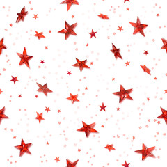 Seamless red stars