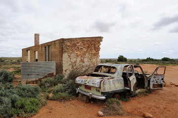 Remote Ghost Town Outback Australia