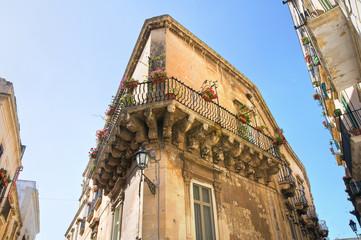 Rossi palace. Lecce. Puglia. Italy.