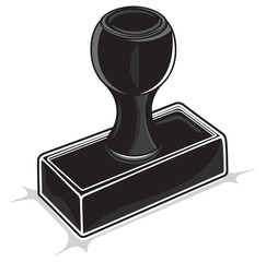 Black stamp isolated