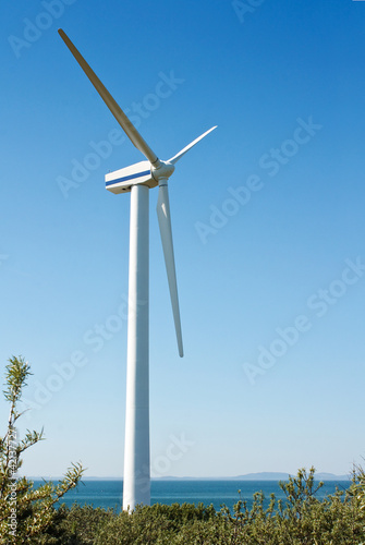 single coastal wind turbine