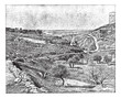 Valley of Jehoshaphat or Valley of Josaphat, vintage engraving.