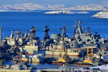 Североморск в зимний день