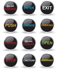 Signs button illustration