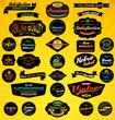 Black Retro Labels Collection