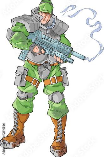 Fotobehang Militair Marine Soldier