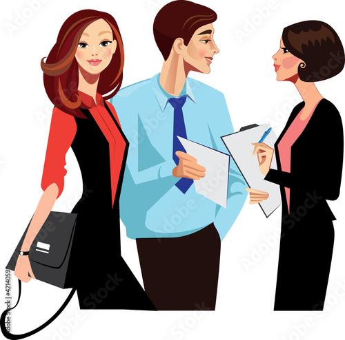 staff in work