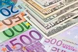 Euro versus dollar poster