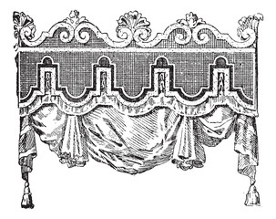 Valance, vintage engraving.