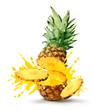 Pineapple juice burst