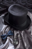 Hat, bow tie and pocket watch