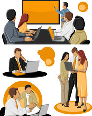 Template of a group of business people