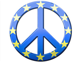 EU Metallic Peace Sign