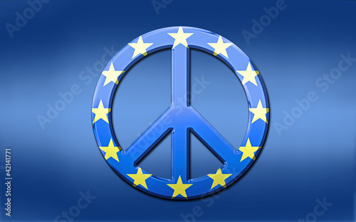EU Flag Peace Symbol
