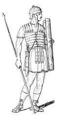 Roman Legionary, vintage engraving