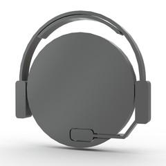 3d Icon Hotline schwarz
