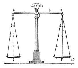 Balance, vintage engraving