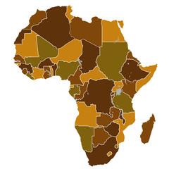アフリカ 大陸 地図 国