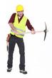 Man wielding axe