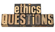 ethics questions in wood type