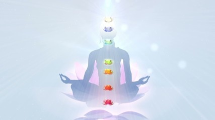 Lotus Meditation. Chakra activation.
