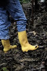 Botas amarillas.