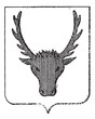 Moose Coat of Arms, vintage engraving