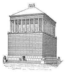 Tomb of Mausolus or Mausoleum at Halicarnassus, in Bodrum, Turke