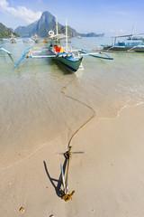 Moored banca boat