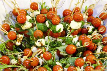 tomato salad with mozzarella